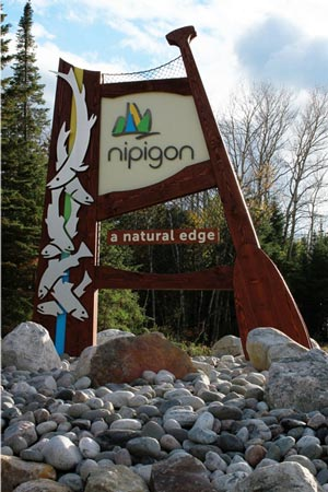Nipigon Road Sign