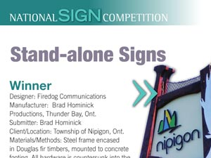 "Winner ""Stand-Alone Sign"" Sign Media Canada 2014"